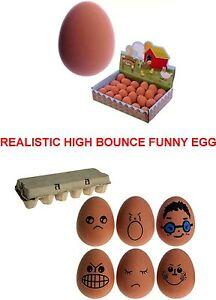Bouncy Fake EGG Rubber Balls Egg Jet Ball Party Bag Filler 5.4cm Large
