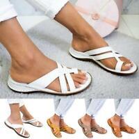 Women Premium Orthopedic Slide Ring Toe Sandals Slip On Summer Beach Shoes Sizes