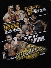 WWE Night of Champions 2011 M T-Shirt Medium John Cena CM Punk Triple H WWF