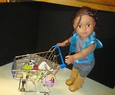 "My Life As Metal Shopping Cart Really Rolls Walmart Realistic for 18"" Doll New"