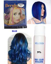 Decolor Powder Blue Shade Highlight Bleaching Powder With Cream Developer Set