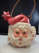 TIMMY WOODS SANTA HAND BAG/ PURSE. HAND CARVED WOOD. RARE DESIGN. with STAR