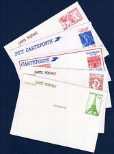 FRANCE Entier Postal 1982 à 1987 Lot de 5 cartes Neuves