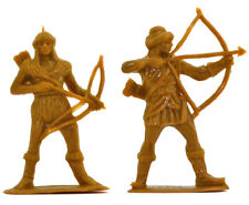 Jecsan - 6 Hun Archers in 2 poses - unpainted 60mm plastic