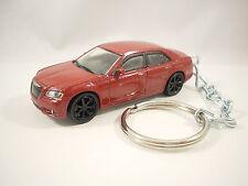 2013 2014 CHRYSLER 300C 300 SRT Sedan Cherry Red Key FOB Keyring Keychain