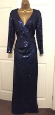 Stunning Coast Wrap Sequin Maxi Wedding Occasion Dress Size 12