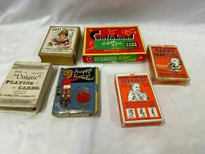 Vintage Collection Of Playing Cards Party Games Jaques Snap & Happy Familes etc.