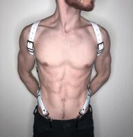 Men Body Harness Lingerie S Chest Leather Strap Belt Costume Clubwear Adjustable