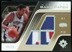 TIM DUNCAN 2004-05 Ultimate Collection Triple Game Worn ALL STAR Patch /10 Spurs