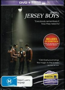 JERSEY BOYS DVD + CD Soundtrack - Directed Clint Eastwood NEW & SEALED Free Post