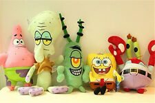 6pcs SpongeBob SquarePants Patrick Star Squidward Tentacles Plush Toys Kids Gift