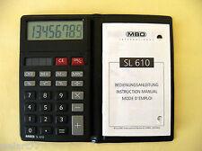 Vintage Solar Taschenrechner MBO SL 610  - klappbares Display / Art. No. 54051