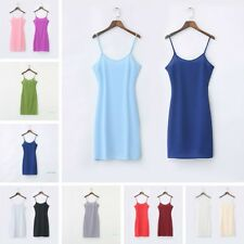Women Chiffon Strappy Full Slip Slim Dress Underskirt Petticoat Chemise Nightie