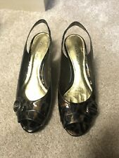 Antonio Melani Womens Sandals Animal Print Shiny Size 9M NIB