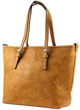Damen Handtasche Designer Look Basic Schultertasche Mode Blogger Damentasche NEU
