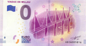 12 MILLAU Viaduc 2, 2019, Billet Euro Souvenir