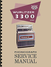 MANUALE COMPLETO  (manual) JUKEBOX WURLITZER 3300-3310 AMERICANA III (juke box)