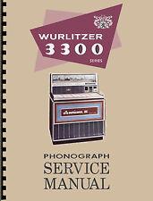 MANUALE COMPLETO  (manual) JUKEBOX WURLITZER 3300-3310 AMERICANA III (juke box)