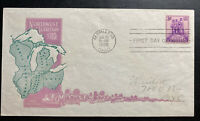 1938 Marietta OH USA First Day Cover FDC North West Territory Sc#837 B