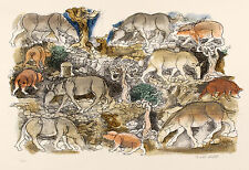 Antony DE WITT Animali della pampa, 1964 litografia originale firmata