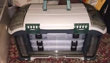 Plano 732 Series Tackle Box# Green/Sandstone GUG As Pictured