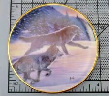 Hamilton Collection by Al Agnew Year Of The Wolf Plate Free as the Wind 1998