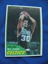 1981/82 Topps M.L. Carr Celtics card East #72 NBA basketball $1 S&H