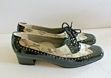 80s Vintage Lackleder Soft Schwarz Sz 6.5 Women's Sz 37 Alexandria Patent Stadi