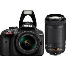 Nikon D3400 24.2MP Digital SLR Camera w/ AF-P 18-55mm VR & 70-300mm Dual Zoom Le