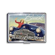 GM Buick thrill of the year publicité étui à cigarettes étui boîte Cigarette Case