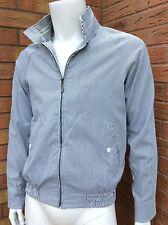 Stefano conti bleu marine & blanc à rayures veste aviateur détail £ 225 taille s/m