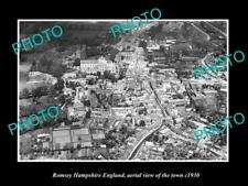 OLD LARGE HISTORIC PHOTO OF ROMSEY HAMPSHIRE ENGLAND AERIAL VIEW OF TOWN c1930 1