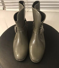 Marc Jacobs Short Rubber/Rain Boots With Chain Design Size Euro 39
