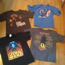 DISNEY STORE Boys Cap America, Oz, Vader Lot 4Tees T-Shirts Size L Large 10-12