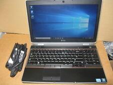 """Dell Latitude E6520 15.6"""" Notebook - i3-2330M 2.2GHz 4gb RAM 160GB HDD Win 10"""