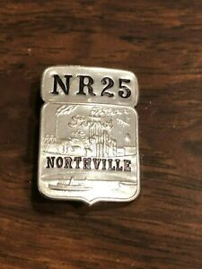 Henry Ford Northville Michigan USA Employee I.D. Badge Pin #NR25