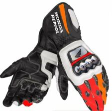 Honda Motorbike Leather Motogp Riding Gloves  All Sizes Available