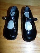 Baby Girl SRIDE RITE shoes sz 7N Black Patent Leather Mary Janes Buckle EXC COND