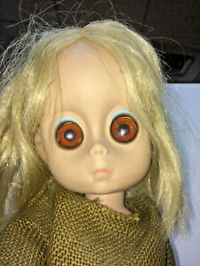 Vintage 1965 LITTLE MISS NO NAME Hasbro Sad Eye doll - No Tear - Original