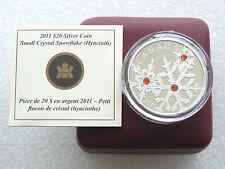 Canada 2011 Cristallo Swarovski Fiocco di Neve Hyacinth ROSSO 20 $ARGENTO PROOF 1oz MEDAGLIA