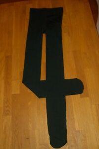 Blickdicht dicke Thermo Strumpfhose Leggings lang dunkel grün Gr. XS  34  * NEU