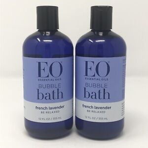 """2 Bottles Essential Oils French Lavender Bubble Bath """"Be Relaxed"""" 12 fl oz"""