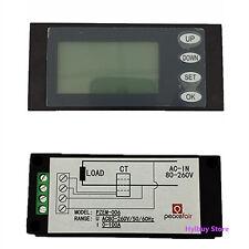 5 in 1 Multifunction Voltmeter Ammeter Power Meter Time Ele AC80-260V 100A+ CT