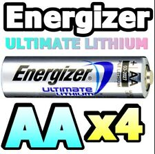 *EXPIRY 2037* 4 x AA ULTIMATE LITHIUM BATTERIES L91 1.5v TOP QUALITY WORLD No.1