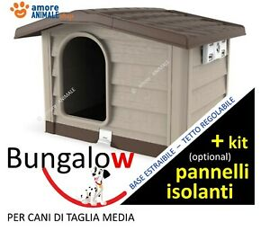 Cuccia per Cani di Taglia MEDIA in Resina  Bungalow BEIGE / VERDE - cm 89x75x62