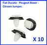 X10 CLIPS PEUGEOT CITROEN BOXER FIAT BAS DE PORTE GARNITURE 856543 71728806