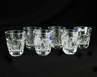 SET OF 6 Cut Crystal Shot Glasses Liquor,Vodka,Cognac 25ml /0.85oz  HAND MADE