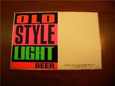 Old Style Light Beer Promo Sticker 1990