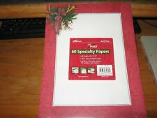 LETTERHEAD COMPUTER PRINTER PAPER CHRISTMAS HOLIDAY  60 SHEETS RED HORN NEW