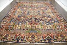 Traditional Vintage Persian Wool  9.7 X 12.7 Handmade Rugs Oriental Rug Carpet